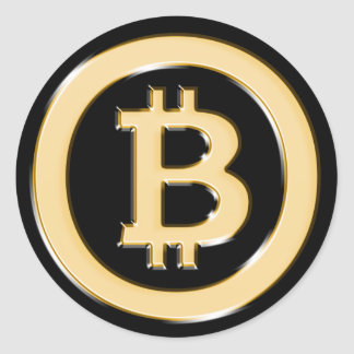 AA568-Bitcoin-Made-of-Gold-symbol Classic Round Sticker
