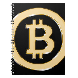 AA568-Bitcoin-Made-of-Gold-symbol Notebook