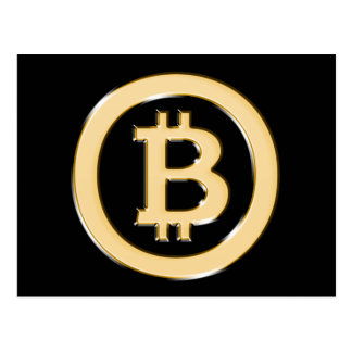 AA568-Bitcoin-Made-of-Gold-symbol Postcard