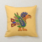 AA- Awesome Mexican Art Style Eagle Design Throw Pillow