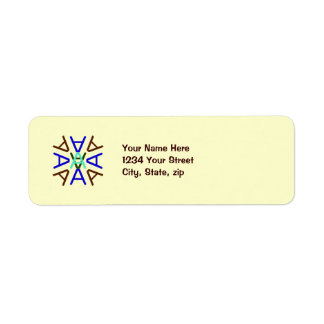 Aa Medallion Earth Return Address Label