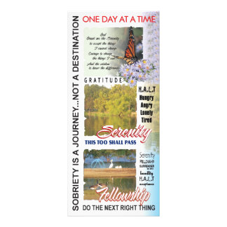 aa slogans bookmark customized rack card