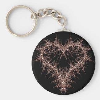 aaa-r-6rotes heart keychain