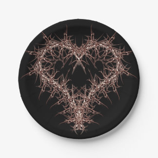 aaa-r-6rotes heart paper plate