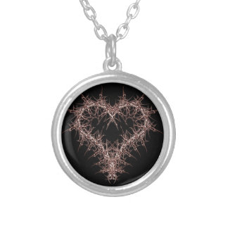 aaa-r-6rotes heart silver plated necklace