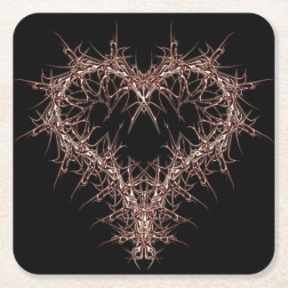 aaa-r-6rotes heart square paper coaster