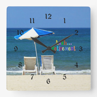 Aaah...retirement Square Wall Clock