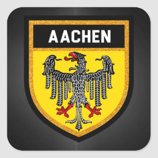 Aachen Flag Square Sticker