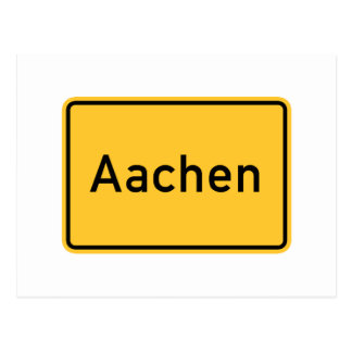 Aachen, Germany Road Sign Postcard