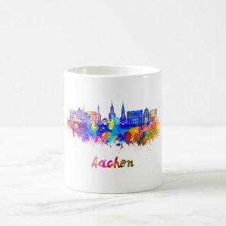 Aachen skyline in watercolor coffee mug
