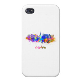 Aachen skyline in watercolor iPhone 4 cover