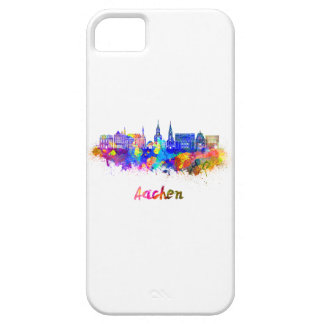 Aachen skyline in watercolor iPhone 5 covers