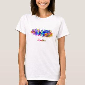 Aachen skyline in watercolor T-Shirt