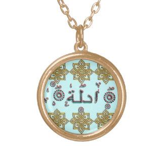 Aadila Adela arabic names Gold Plated Necklace
