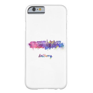 Aalborg skyline in watercolor barely there iPhone 6 case
