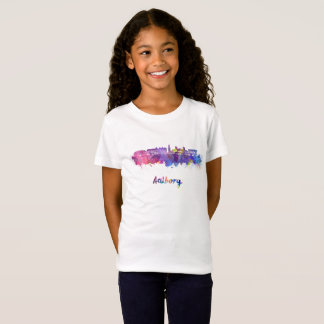 Aalborg skyline in watercolor T-Shirt