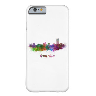 AAmarillo skyline in watercolor Barely There iPhone 6 Case