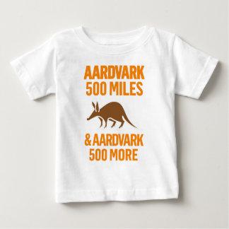 Aardvark 500 Miles funny pun Baby T-Shirt