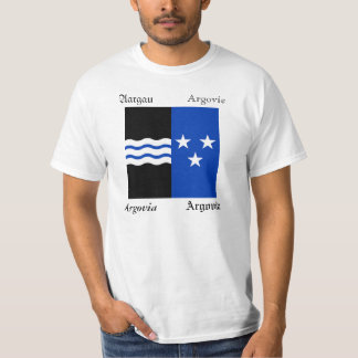 Aargau Four Language Swiss Canton Flag T-Shirt