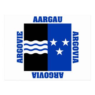 Aargau Switzerland Canton Flag Postcards