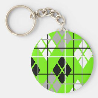 Aargh Argyle Basic Round Button Keychain