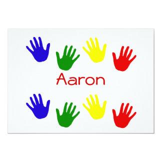 """Aaron 5"""" X 7"""" Invitation Card"""