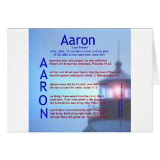 Aaron Acrostic Greeting Card