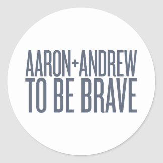 Aaron + Andrew Sticker