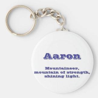 Aaron Basic Round Button Keychain