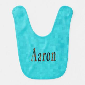 Aaron Boys Name Logo, Bib