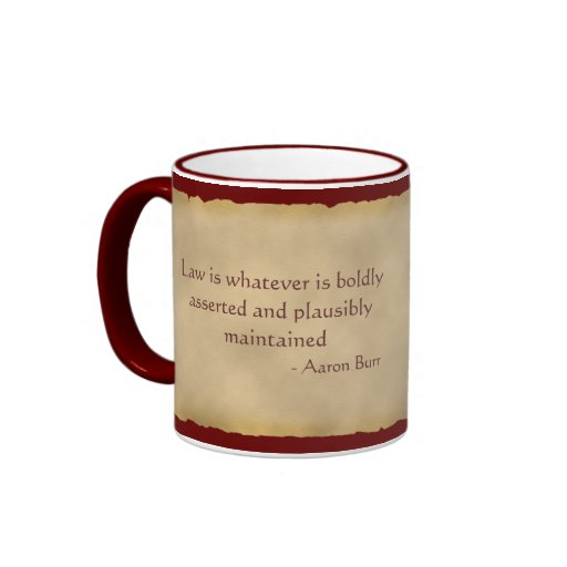 Aaron Burr Coffee Mug