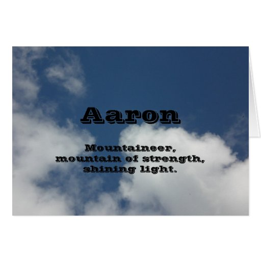 Aaron Greeting Cards