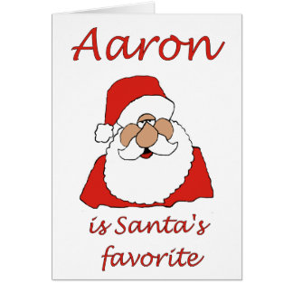 aaron Christmas card