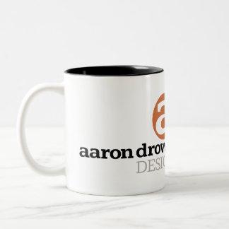 Aaron Drown Design logo mug
