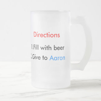 Aaron Frosted Glass Mug