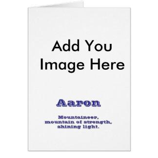 Aaron Greeting Card