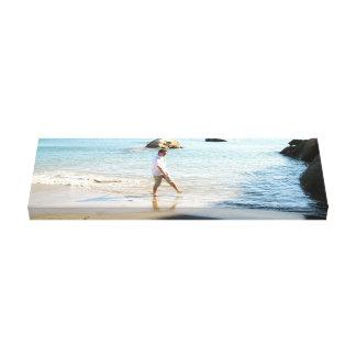Aaron on the Beach Canvas Print