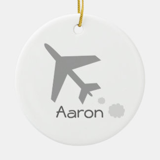 Aaron Double-Sided Ceramic Round Christmas Ornament