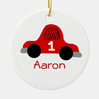 Aaron Round Ceramic Ornament