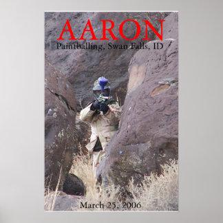 Aaron paintballing poster