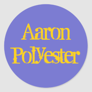 Aaron Polyester Classic Round Sticker