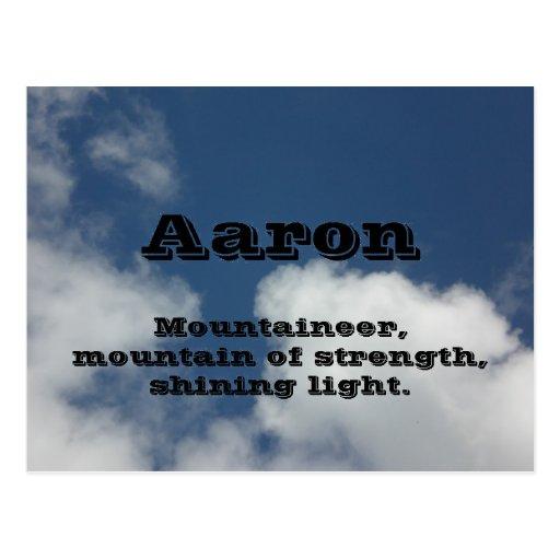 Aaron Post Card