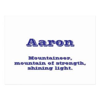 Aaron Postcard