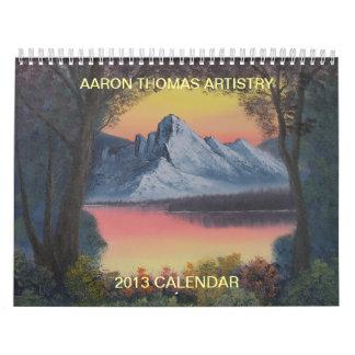 Aaron Thomas Artistry 2013 Calendar