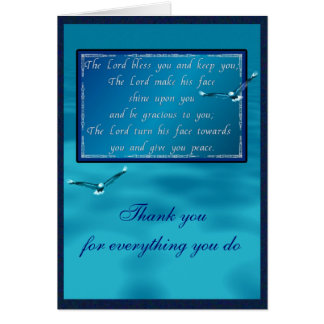 Aaronic blessing card