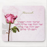 Aaronic Blessing Hebrew Rose Mouse Pad