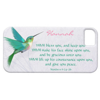 Aaronic Blessing Hummingbird English iPhone 5 Cases