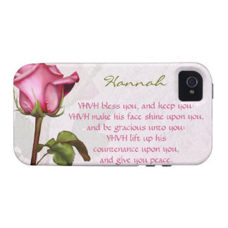 Aaronic Blessing Rose English iPhone 4/4S Cases
