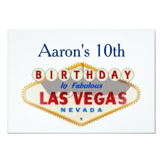 Aaron's 10th Las Vegas Birthday Card