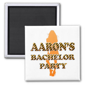 Aaron's Bachelor Party Square Magnet